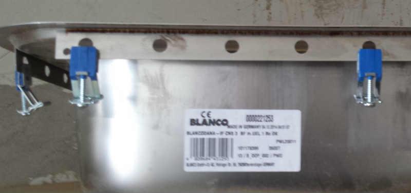 Blanco vask med tynd flange