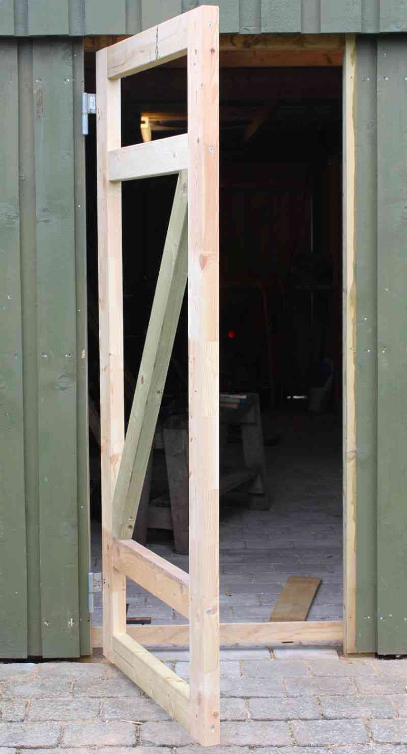 Super Dør til skur - Lav og monter din egen dør til skur DQ66